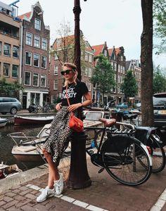 Ganni street style | Rebecca Laurey | Dufort Silk Skirt
