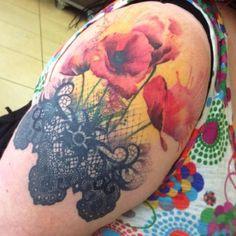 poppy flower tattoo 54 - 70 Poppy Flower Tattoo Ideas  <3 <3