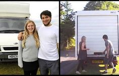 Couple Lives Inside This Old White Van After Transforming It Into A One-Bedroom Apartment