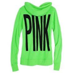 Lime green Victoria Secret Pink hoodie