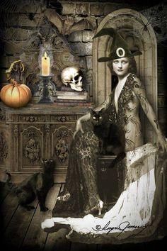 A vintage witch Halloween art Retro Halloween, Halloween Fotos, Halloween Pin Up, Holidays Halloween, Halloween Crafts, Halloween Costumes, Halloween Witches, Halloween Table, Halloween Signs