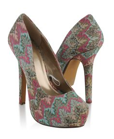 Saw these shoes in person today and fell in love. If only they weren't so hard to walk in.