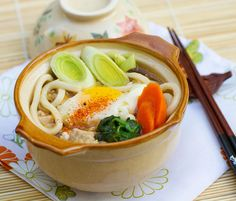[donotprint] Nabeyaki udon is one of my all-time favorite Japanese dishes. It's a soup made with thick chewy udon noodles, vegetables, and a variety of toppings, depending on where you get it, from a poached egg to tempura shrimp, or kamaboko (fish cake) and chicken. Mr. Fuji and I have a favorite restaurant in Tokyo …