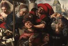 El cirujano o El cirujano del lugar o Extracción de la piedra de la locura. Jan Sanders van Hemessen. 1550-1555. Localización: Museo Nacional del Prado (Madrid). https://painthealth.wordpress.com/2015/11/20/el-cirujano/