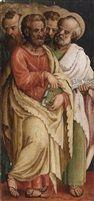 Die heiligen Ermacora und Fortunato; Die vier Evangelisten (pair) von Francesco Floreani