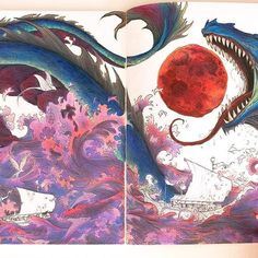 Almost done✨ . . . . #mythomorphiacoloringbook #mythomorphia2017 #dragoncolors #imagination #imaginationarts #coloring #couloring #coloringbook #coloringbooks #colouringforadults #coloringbookforadults #dragon #prismacolor #prismacolorpencils #prismacolorpremier #lovecoloring #lovecolouring #lovecoloringbooks #dailyart #dailycoloring #dailycoloringpage #mythomorphia #mythomorphiacoloring #mythomorphiacoloringbook #abadriana