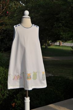 Clothesline dress.  This was a Children's Corner Sewing School project designed and taught by Lezette Thomason.