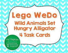 These free task cards add a Language Arts component for students working with the Lego WeDo Wild Animals set.  My 5th graders have loved being able to program movements for the Legos that they make using these kits and accompanying software!