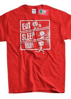 Eat Sleep Run TShirt Eat Sleep Run Cartoon Running by IceCreamTees, $14.99