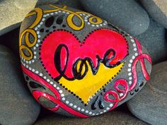 Groovy Kind of Love / Painted Rock / Sandi Pike by LoveFromCapeCod, $32.00