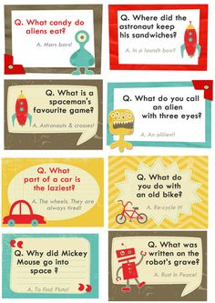 Free printable lunchbox joke notes from Design by Dani