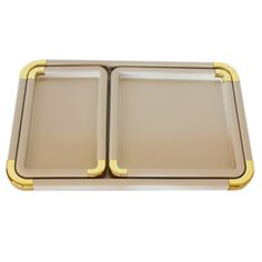 For the Host     SPRUCE Upholstery Gold Trim Tray Set