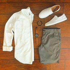 Cool Summer Outfits for Men's - Herren- und Damenmode - Kleidung Mode Outfits, Casual Outfits, Men Casual, Fashion Outfits, Sneakers Fashion, Smart Casual, Fashion Styles, Fashion Boots, Casual Shorts
