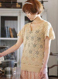Beauty Silk Cotton Motif Sweater by Pierrot