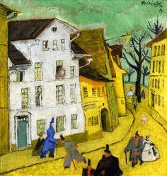 Lyonel Feininger (1871-1956) was een Amerikaanse kunstschilder en karikaturist. In 1912 ontmoet hij de leden van de kunstenaarsgroep 'Die Brücke'. Hij neemt deel aan de belangrijke tentoonstelling van der-Blaue-Reiter in de Sturm Galerie in Berlijn in 1913. van 1919 tot 1933 geeft hij les aan het fameuze Bauhaus in Weimar in de grafische kunsten.