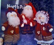 Mr. & Mrs. Santa Claus! how cute are these!