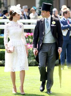 Kate Middleton Gives Off Bridal Vibes in a Lace Alexander McQueen Dress from InStyle.com