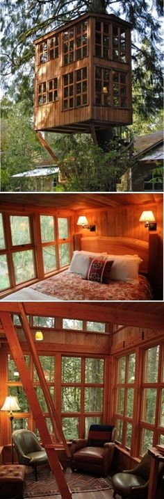 Trillium suite at TreeHouse Point Hotel in Snoqualmie, near Seattle, USA yeah that'd be a cool honeymoon place