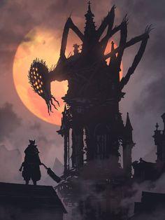 Some amazing Bloodborne art found on r/alternativeart Sif Dark Souls, Arte Dark Souls, Bloodborne Concept Art, Bloodborne Art, Gothic Horror, Horror Art, Dark Fantasy, Fantasy Art, Game Art