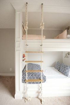 Diy crafts cool bunk beds, home bedroom, kids bedroom. Modern Bunk Beds, Cool Bunk Beds, Bunk Beds With Stairs, Kids Bunk Beds, Bunkbeds For Small Room, Bunk Beds For Girls Room, Bunk Rooms, Best Bunk Beds, Bunk Bed Ideas For Small Rooms