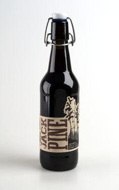 Beer Label: Jack Pine by Chelsea McFadden, via Behance