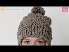 How to Crochet Stepping Texture Hat - YouTube with The Crochet Crowd | Highly textured, and also easy to complete, this Stepping Texture Hat is crocheted in Bernat Softee Chunky.