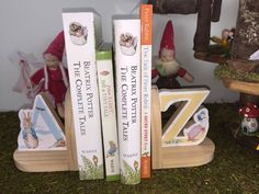 """Bookends """"Peter Rabbit"""" by """"Beatrix Potter"""""""
