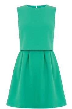 CREPE 2 IN 1 DRESS | Green | Oasis Stores
