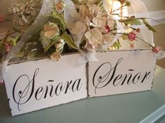 Senor and Senora Spanish Wedding Day Chair by 2chicsthatbelieve, $29.95
