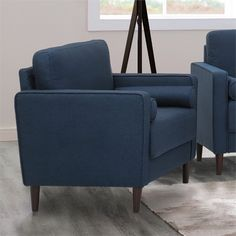 Lowest price online on all Lifestyle Solutions Jareth Accent Chair in Navy Blue - LK-LGFS1GU3051