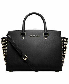 MICHAEL Michael Kors Selma Grommet Satchel $428 - my new bag thanks to work!!!