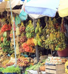 produce for sale at the market, Tabatinga on the Amazon River in Brazil