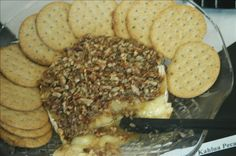 Baked Brie With Kahlua and Pecans from Food.com:   								A delicious and easy appetizer!