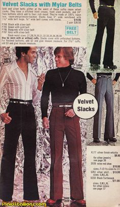 Plaid Stallions : Rambling and Reflections on '70s pop culture: Mr Velvet Pants
