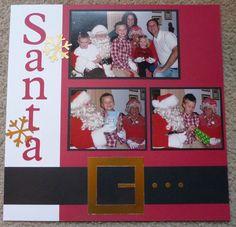 Santa visit scrapbook page