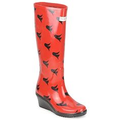 Wedge Welly Freedom Unique Rain Boot £39.99   http://www.fashion-mommy.com/2013/10/28/weathering-the-storm-grab-your-wedge-wellies/