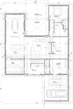plan Pavilion Architecture, Futuristic Architecture, Residential Architecture, Architecture Design, Apartment Floor Plans, House Floor Plans, Beautiful House Plans, Plan Plan, How To Plan