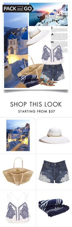 """Santorini"" by christinekate ❤ liked on Polyvore featuring Gottex, Flora Bella, Forte Couture, River Island, The Beach People, Alameda Turquesa, Packandgo and greekislands"