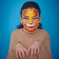 Finish of a cute cat costume with this cool face painting makeup tutorial and a felt headband Cute Cat Costumes, Felt Headband, Cool Face, Halloween Face, Kitty, Seasons, Paint Ideas, Celebrities, Cats