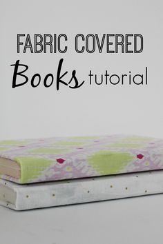 Updating the look of your books by covering them with fabric and Mod Podge.  An inexpensive decor update for your home!  www.thedempsterlogbook.com