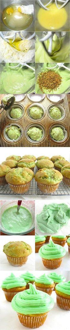 Pistachio Cupcakes - Love with recipe