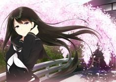 Image in < Kawaii Anime Girls > collection by ʳᵃᵇᵇⁱᵈ ʳᵃᵇᵇⁱᵗ Manga Girl, Manga Anime, Anime Art, Anime Uniform, Female Face Drawing, Girls With Black Hair, Image Manga, Kawaii Anime Girl, Anime Girls