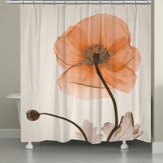laural home xray poppy shower curtain by laural home
