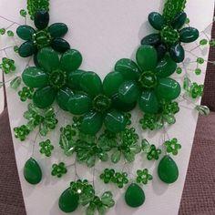 Купить Красивый стиль зеленый серии кристалл и агат цветок женщина ожерельеи другие товары категории Массивные ожерельяв магазине Lucky Fox JewelryнаAliExpress. Массивные ожерелья