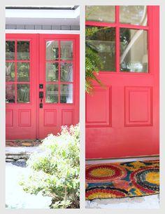 Hot Pink Front Door: Valspar Berry Blush