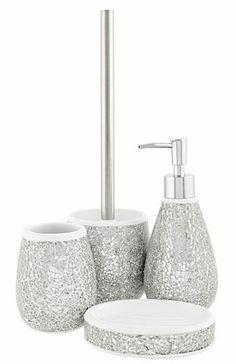 Silver Glitter Bathroom Accessories Silver Glitter Bath
