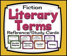Literary Terms Review Cards & Quiz (Setting, Plot, Conflict, Theme & More!) from Presto Plans on TeachersNotebook.com - (11 pages) - Literary Terms Review Cards & Quiz (Setting, Plot, Conflict, Theme & More!)