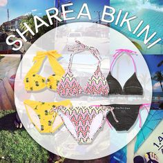 Hey Beauties~! What would you wear! Adorable pineapple Bikini?  Bright ethnic Bikini?  Delicate Neon detail Bikini?  http://thesharea.com/Clothing/Swim/