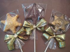 24 Chocolate Deputy Sheriff Badge by DelightfulChocolates on Etsy