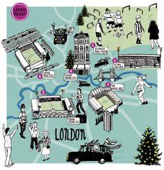 Länderpunkt London - Diana Koehne - Map of London
